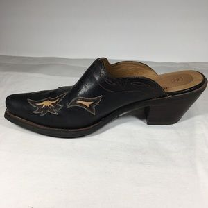 NWOT Ariat western style leather mule/clog Sz. 9.5